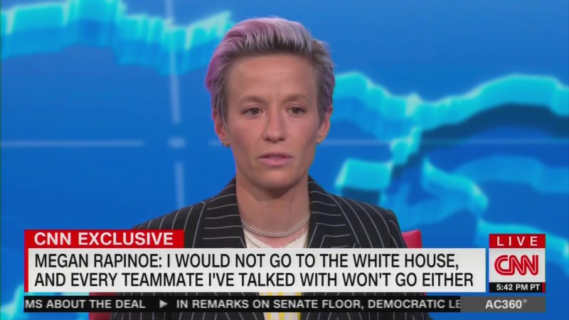 Megan Rapinoe Says Team Won't Go to White House: We Don't Want Our Platform 'Co-Opted or Corrupted'