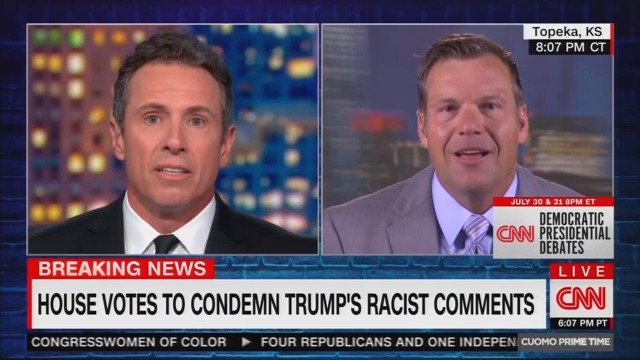 Kris Kobach Leaves Chris Cuomo Gobsmacked, Admits He Might Support an Openly Racist Trump