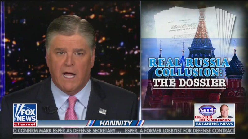 Hannity Gives 'Tutorial' to Republicans, Tells Them What to Ask Mueller at Hearing