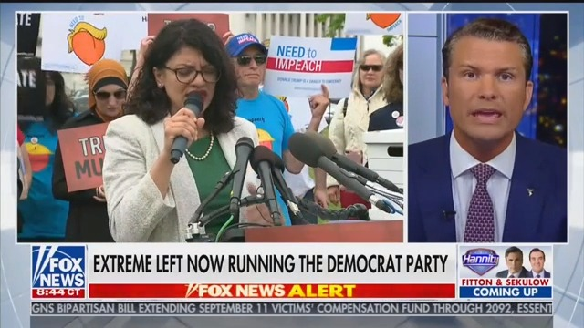 Fox News Host Pete Hegseth: Rashida Tlaib 'Has a Hamas Agenda'