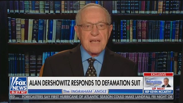 Dershowitz Talks About Epstein on Fox for First Time Ever: 'I'm Proud' That 'I Represented Him'