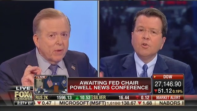 Lou Dobbs Explodes When Fox Business Host Confronts Him About Trump's Exploding Debt