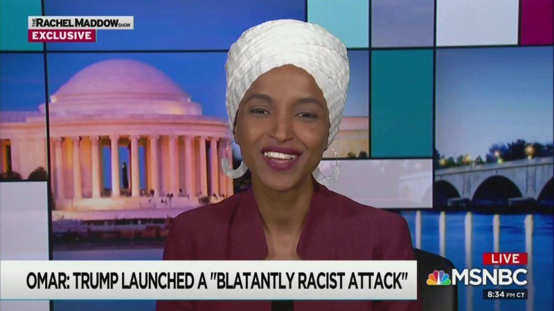Ilhan Omar to Maddow: Trump Is 'Inept,' 'Corrupt' and the 'Worst President We've Had'