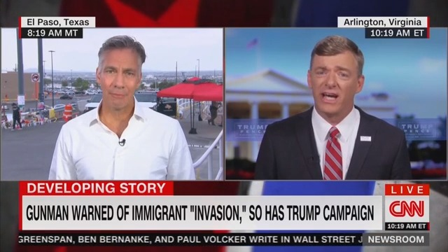 CNN Host Calls Out Trump Flack for Defending President Laughing Off 'Shoot Them' Comments