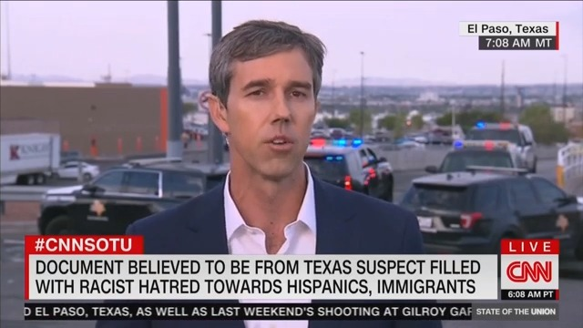 Beto O'Rourke: 'Racist' Trump Is 'Giving People Permission to Do' Mass Shootings