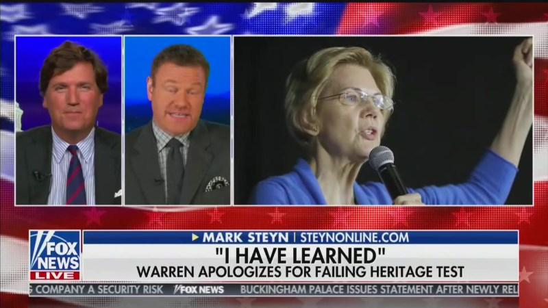 Fox News' Tucker Carlson: Elizabeth Warren Is 'Cory Booker-Level' White