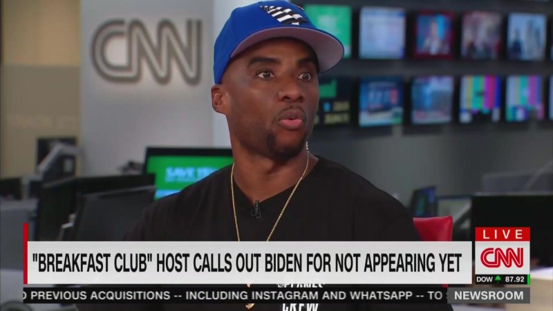 Charlamagne Tha God Blasts Biden for Avoiding His Show: Suffers From 'White Entitlement and Privilege'