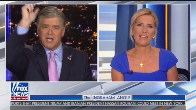 Hannity Complains That Ingraham Didn't Air End of Trump Rally: 'We Were Right at the Crescendo!'