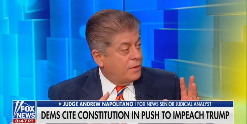 Fox's Judge Nap Dismisses GOP Impeachment Complaint: Prosecutors Don't Gather Evidence in Public