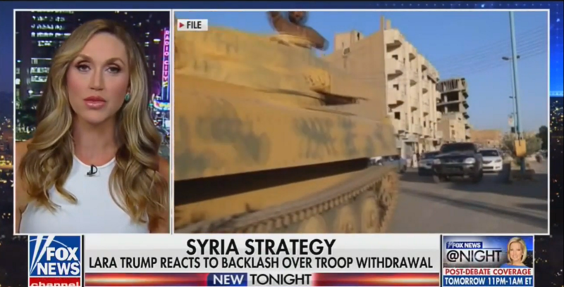 Lara Trump on the President's Syria Withdrawal: 'The Average American' Would Have to Google the Kurds
