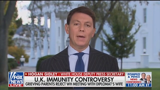 White House Spox Stops Just Short of Smearing Grieving Parents of Harry Dunn