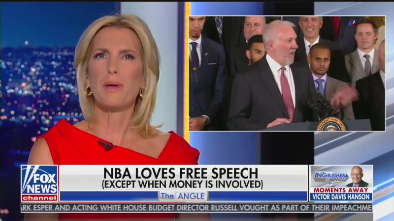 Laura Ingraham Apparently No Longer Wants the NBA to 'Shut Up and Dribble'
