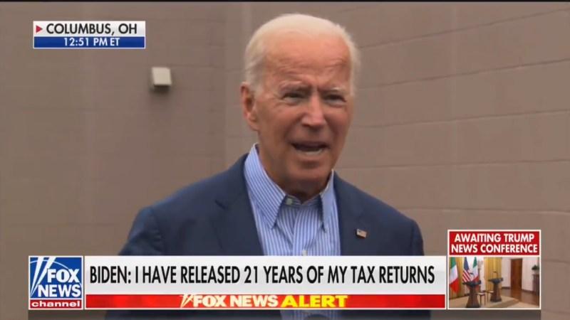 Joe Biden to Trump: 'Release Your Tax Returns or Shut Up!'