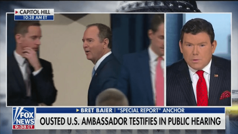 Fox's Bret Baier: Trump Attacking Yovanovitch During Hearing Added Another 'Article of Impeachment'