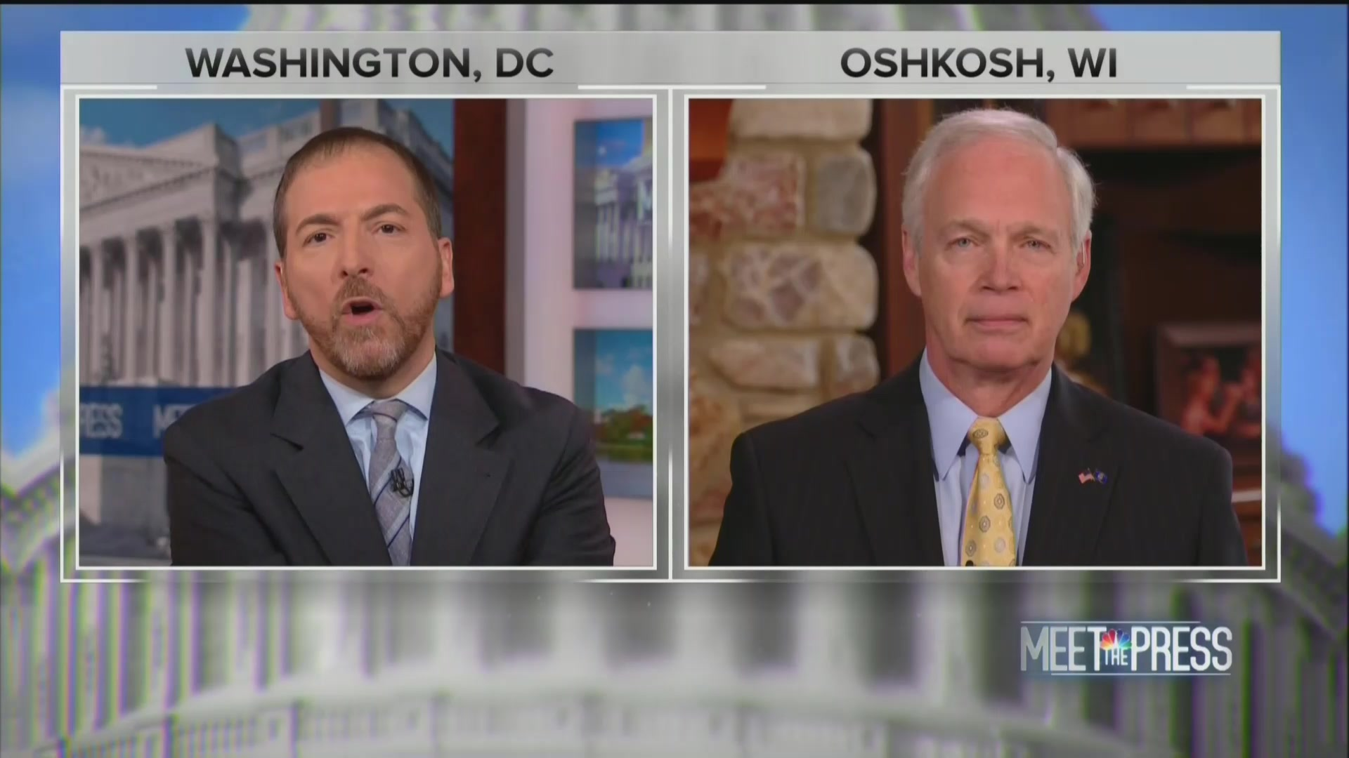 Chuck Todd Grills Ron Johnson: You Blame Ukraine Scandal on 'Everybody' but Trump