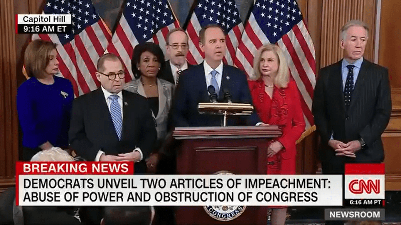 Democrats Announce Two Articles of Impeachment Against President Trump