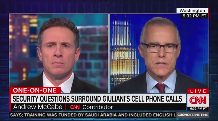 McCabe Explains the Danger In Trump's Reported Personal Cell Phone Use