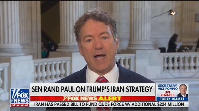Rand Paul Rebukes Trump for Killing Soleimani, Says There Was 'Less Violence' During Iran Deal