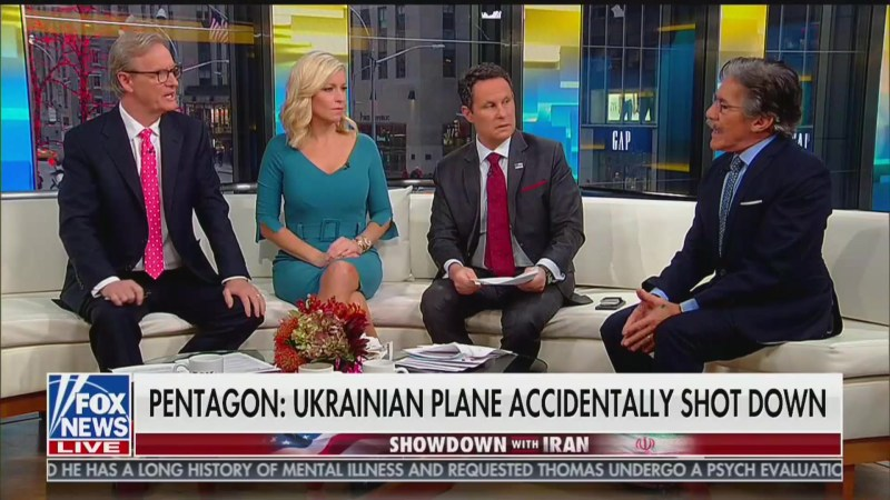 Fox & Friends Host Wonders: Can You Imagine If America 'Accidentally Shot Down' a Civilian Plane?