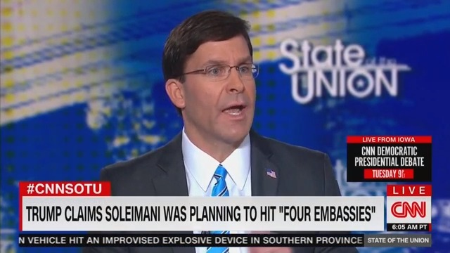 Defense Sec. Mark Esper: 'I Didn't See' Specific Evidence of Imminent Attacks on Four Embassies