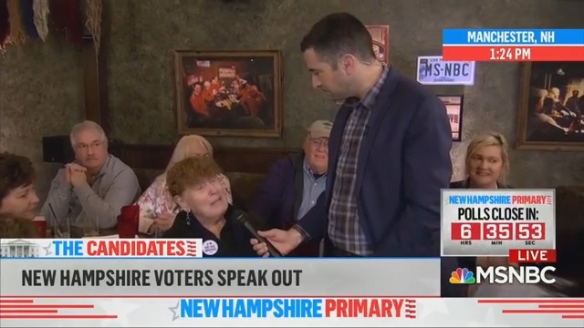 Dem Voter Tells MSNBC She's Voting for Bernie Because of Their Negative Sanders Coverage
