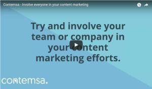 Contemsa - Involve everyone in your content marketing