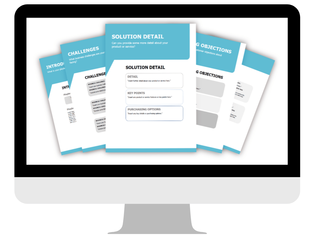 SALES PLAYBOOK TEMPLATE PRODUCT