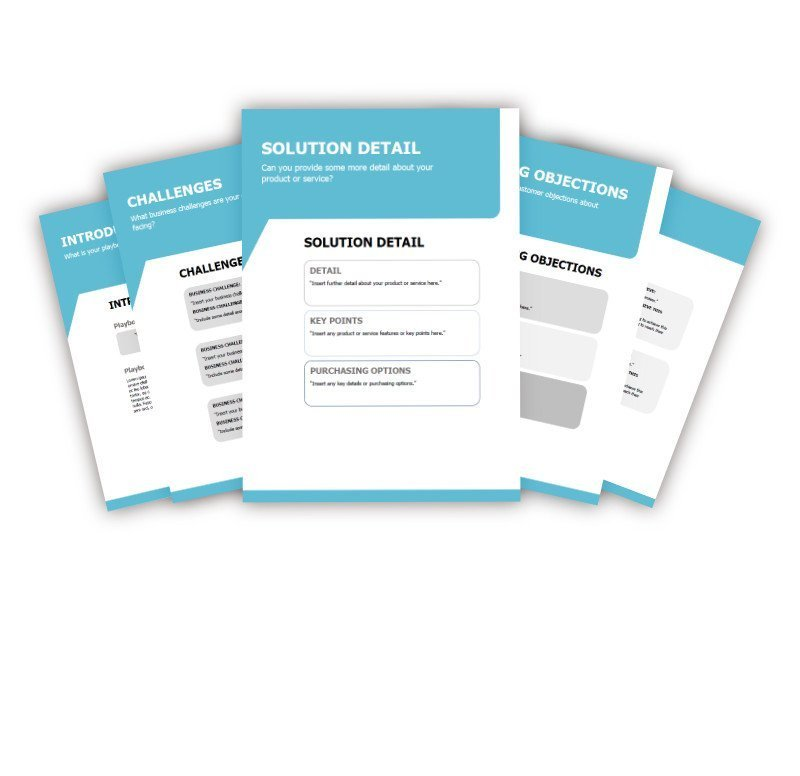 Sales Playbook Template Example - Blue 2