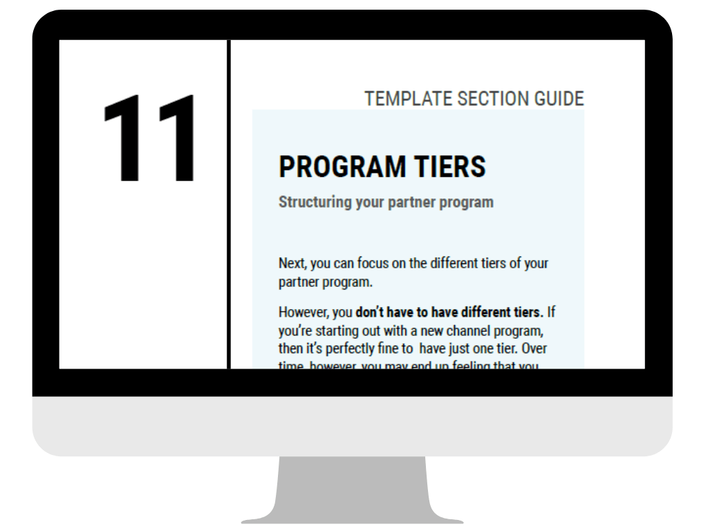 Reseller Program Playbook on Screen