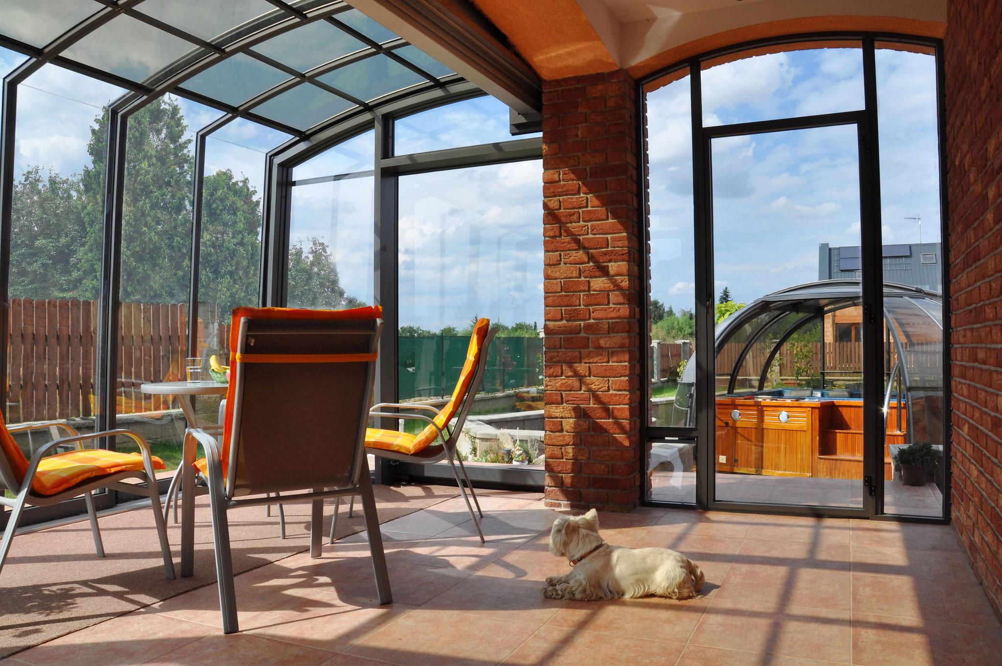 terrassenueberdachung-terrassendach-verschiebbar für Balkon und Terrasse