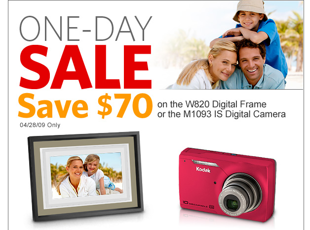 Today Only! Save $70 at the KODAK Store!