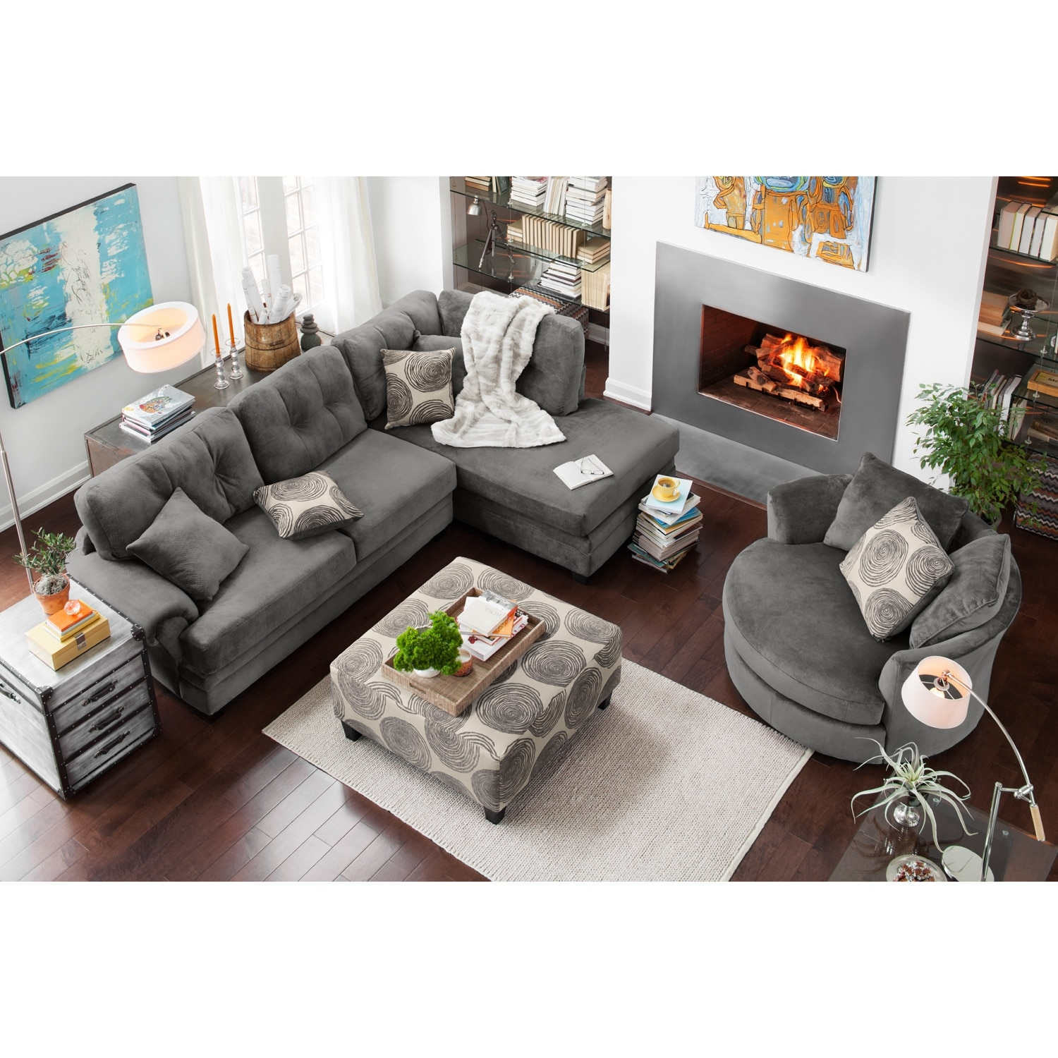 Two Piece Sectional Chaise