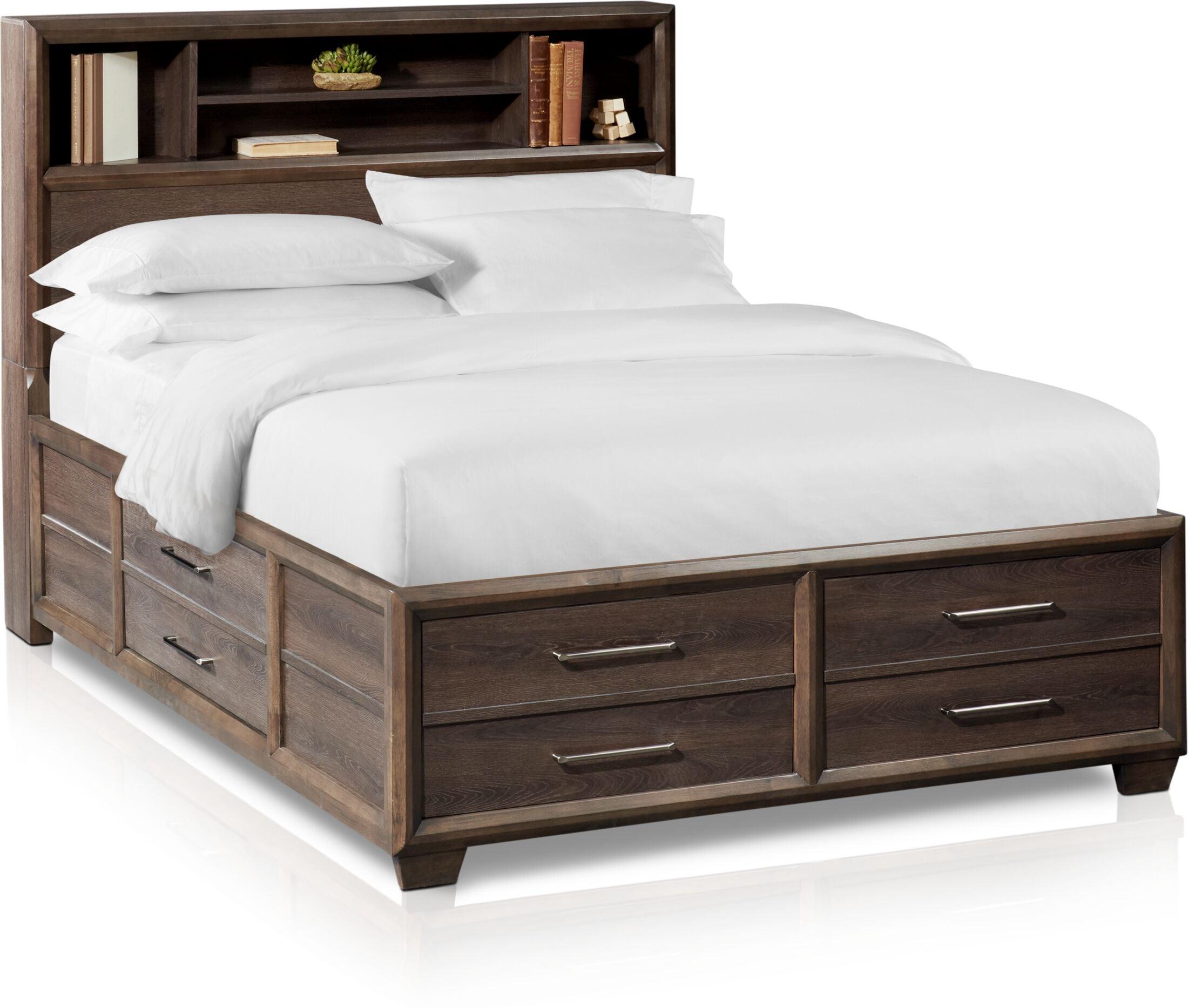 Dakota Bookcase Storage Bed American Signature Furniture