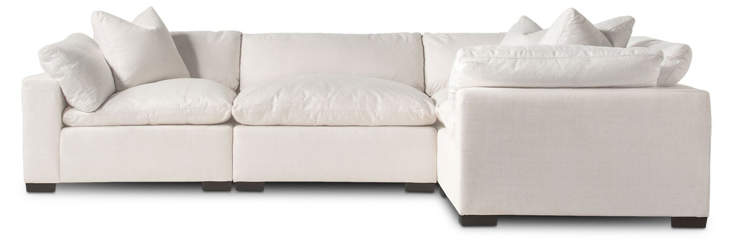 plush 4 piece sectional