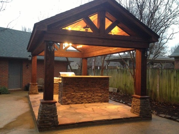 outdoor kitchen covered patio Hutzel Construction | Memphis, TN 38134 | Angies List