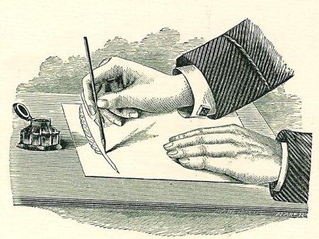 Mann writing