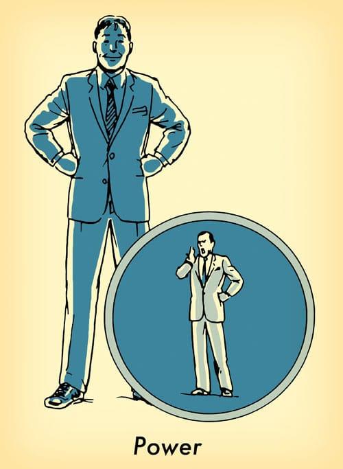 hombre en traje con las manos en las caderas poder pose carisma