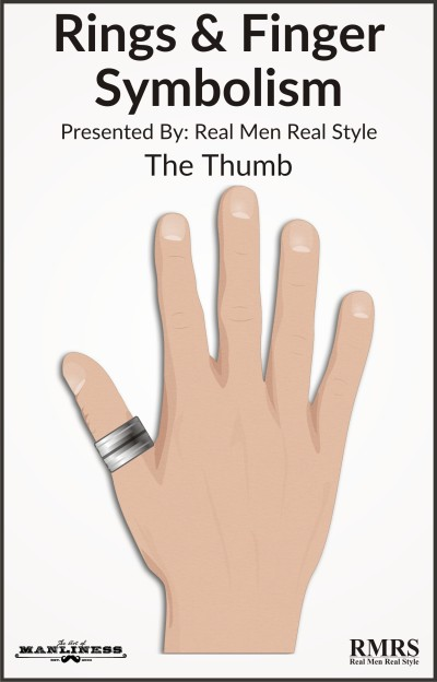 thumb finger ring symbolism illustration