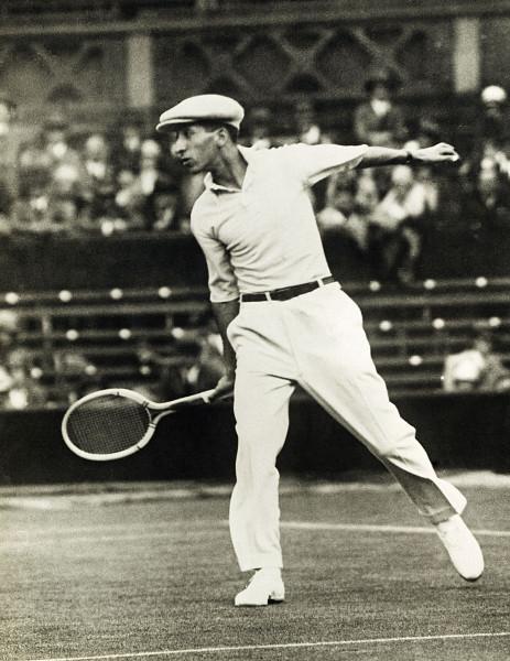 vintage rene lacoste playing tennis