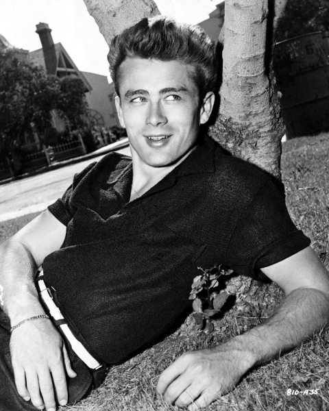 vintage young man wearing wool polo shirt lying against tree