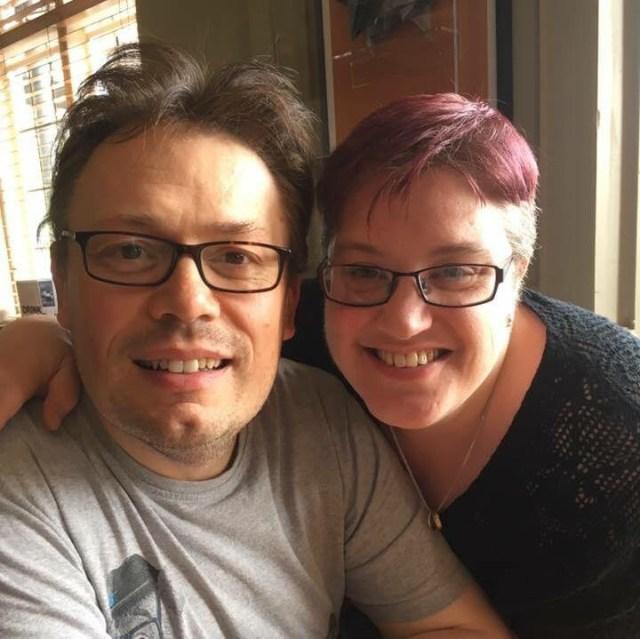 Handout collect image of Amelia Southard who has MS and her husband and carer Martin (Amelia Southard/PA)