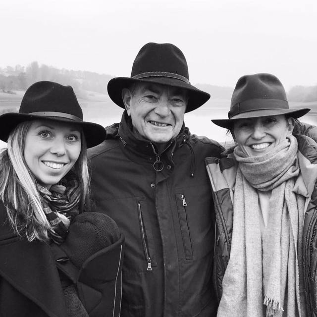 Davina McCall with sister and dad