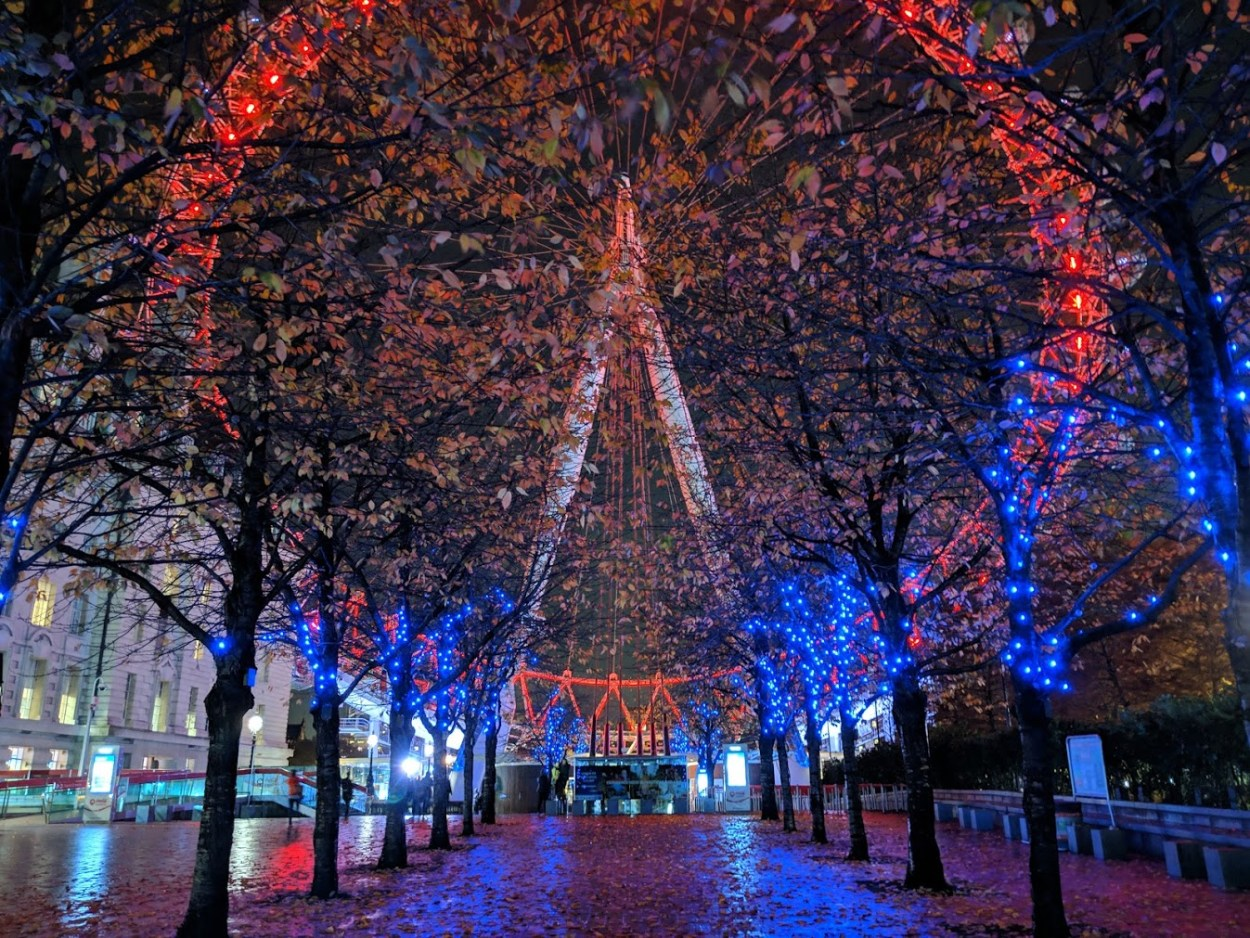 Night Sight photo of London