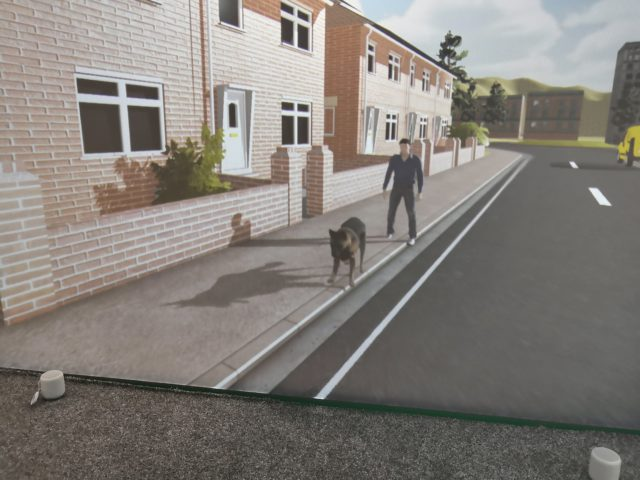 This scenario helped patients who are scared of dogs (Third Eye NeuroTech and Newcastle University/PA)