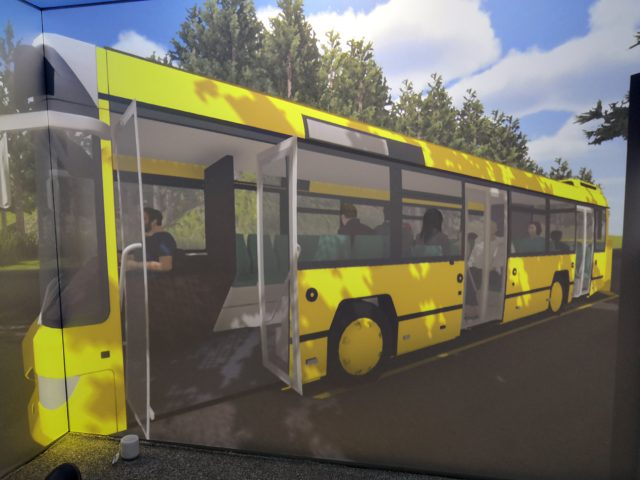 The Virtual Reality suite allows a patient with a fear of buses to feel safe when they are in the scenario (Third Eye NeuroTech and Newcastle University/PA)