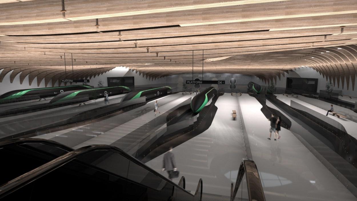 Concept for a Hyperloop station