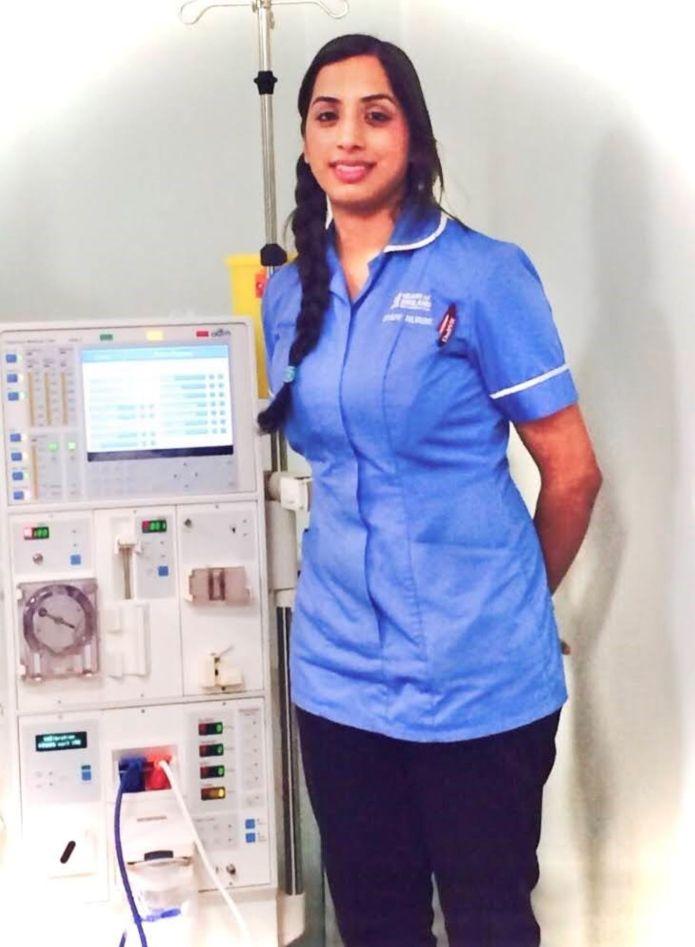 Salma Bi works as a nurse at the Heartlands Hospital in Birmingham