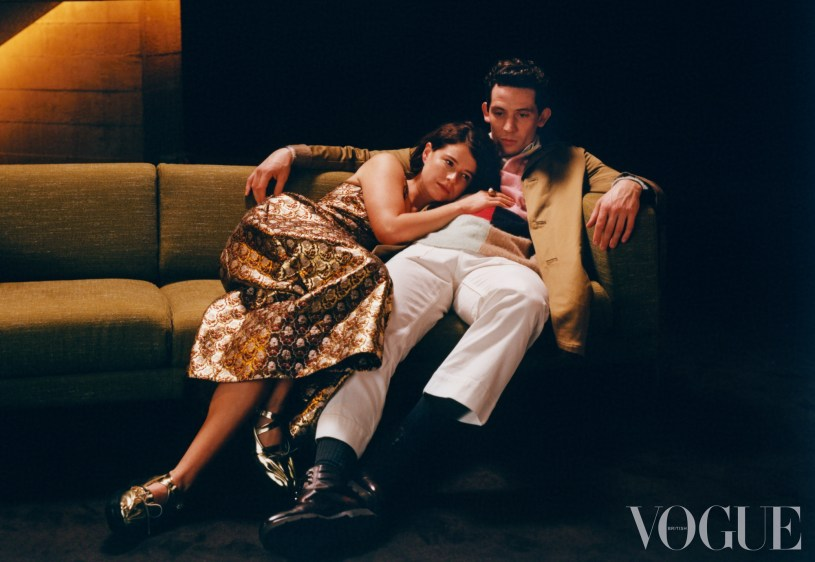 Jessie Buckey and Josh O'Connor photographed in British Vogue