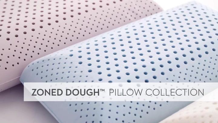 malouf z shoulder cutout zoned dough memory foam pillow bamboo charcoal