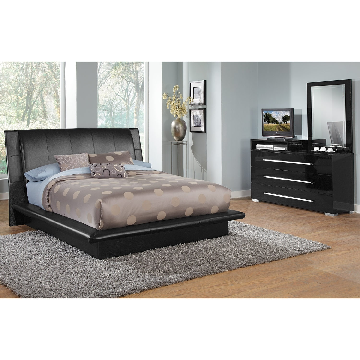 Dimora Black 5 Pc Queen Bedroom Value City Furniture